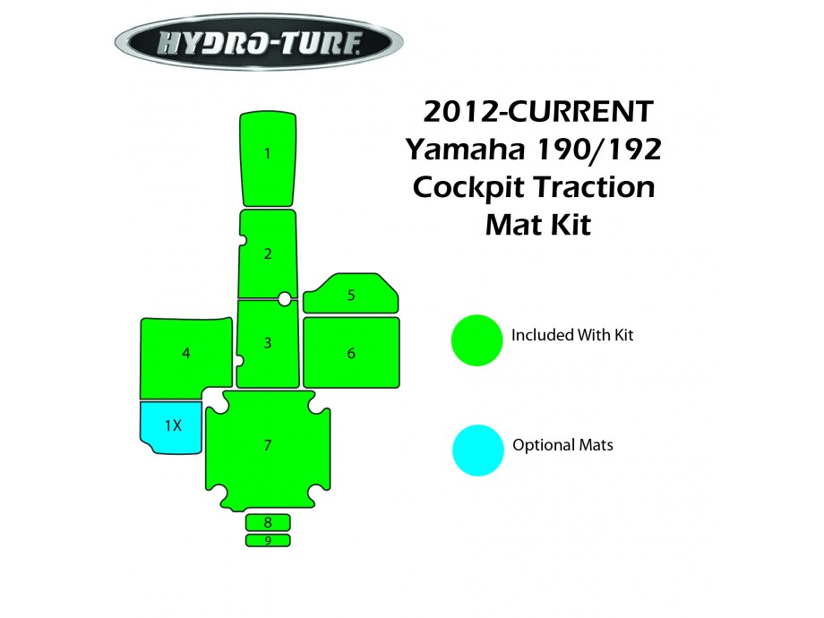 Hydro-turf 190/192 (2012-2014) Traction Mat Kit